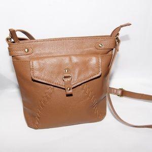 Born brown leather crossbody bag